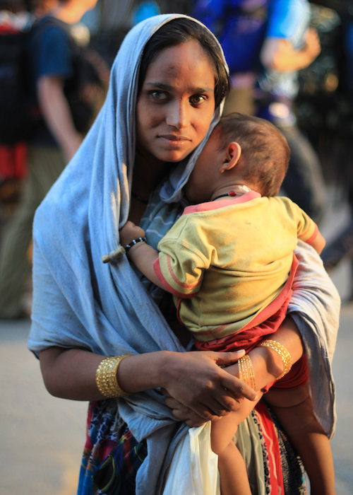 Delhi mother and baby