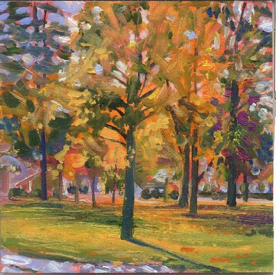 """""""Rochester Town Green"""" Painting by Candy Barr From candybarrartist.com"""