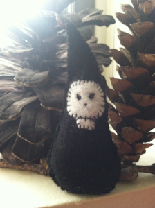 """An """"Ancestor Gnome"""" I sewed for Bee - Photo by Grey Catsidhe, 2015"""