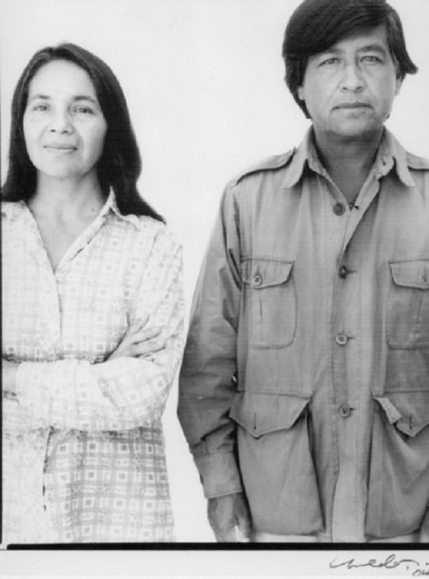 Cesar Chavez Dolores Huerta B&W