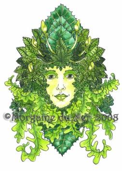 GreenWoman Fine ARt Rint