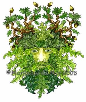 OakMan GreenMan Fine Art Print