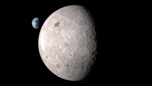 Earth viewed from the far-side of the Moon. Public domain photo courtesy of NASA svs.gsfc.nasa.gov.